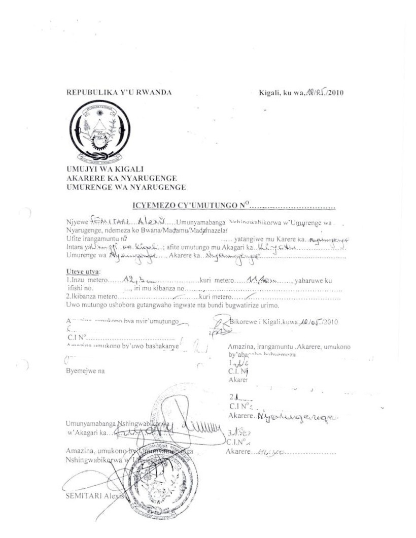 Business procedures in rwanda certificate of provisional land ownership yadclub Images