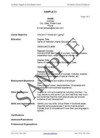 General Business Resume Summary