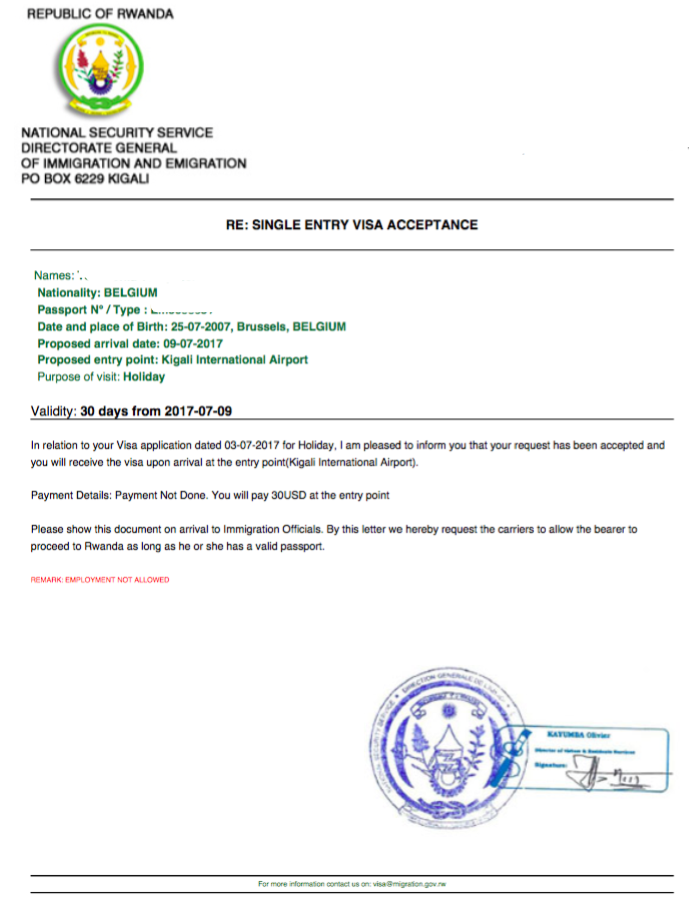 Business procedures in rwanda visa confirmation spiritdancerdesigns Gallery