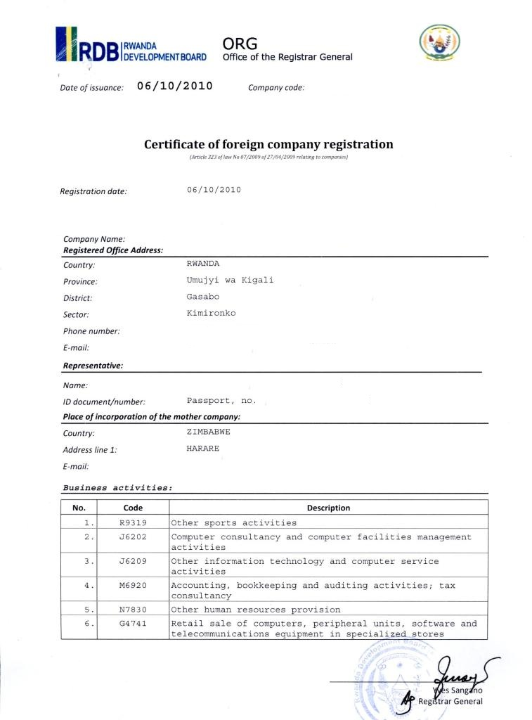 sample letter for company registration eregulations rwanda currrently viewing eregulations rwanda