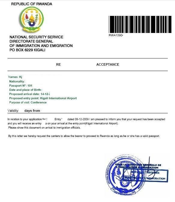 Business procedures in rwanda visa acceptance letter spiritdancerdesigns Choice Image